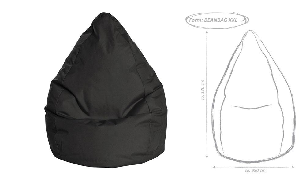 sitzsack brava bean bag xxl ca 300 liter. Black Bedroom Furniture Sets. Home Design Ideas